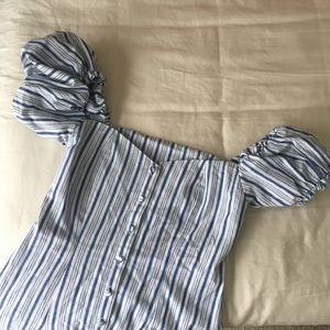 Storetz Striped Off the Shoulder Dress